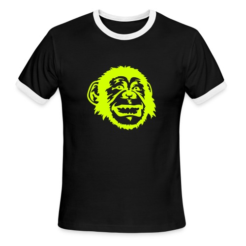 whoa neon glows at night - Men's Ringer T-Shirt