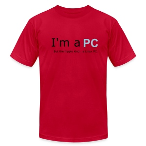 I'm a PC..But the hippie kind...a LInux PC. - Men's Fine Jersey T-Shirt