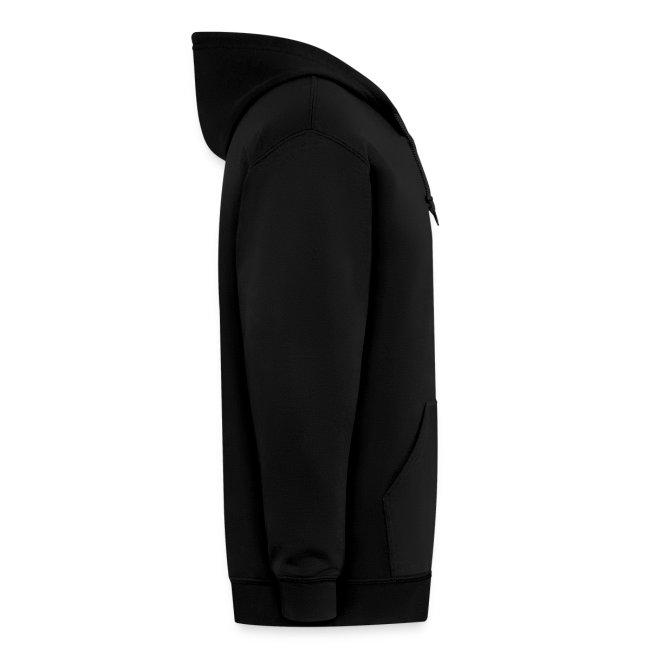 Men's Zipper Hoodie - Black
