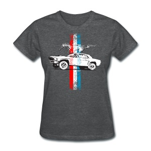 Ford Mustang race and stripes illustration / dd - Women's T-Shirt