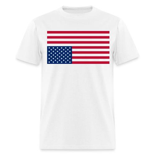 Inverted American Flag - Men's T-Shirt