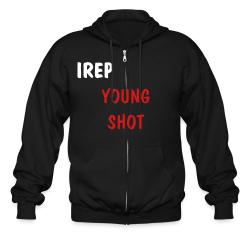 EXCLUS YOUNG SHOT HOODIE WHITE RED - Men's Zip Hoodie