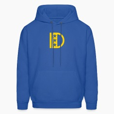 Royal blue d_letter_star Hoodies