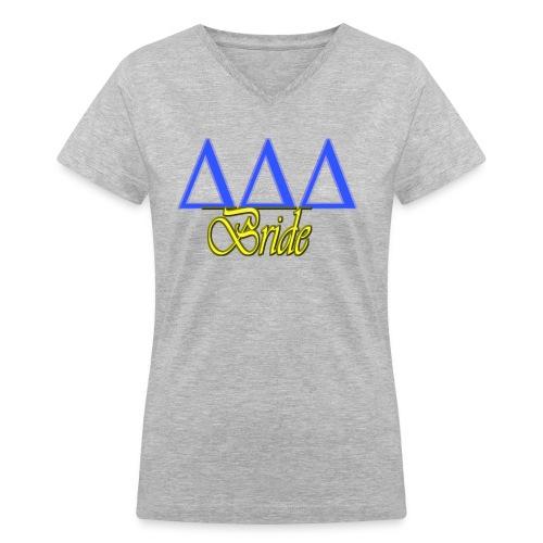 Delta Delta Delta Bride - Women's V-Neck T-Shirt