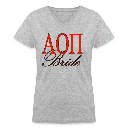Alpha Omicron Pi Bride - Women's V-Neck T-Shirt