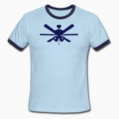 Sky/navy ceiling fan T-Shirts (Short sleeve)