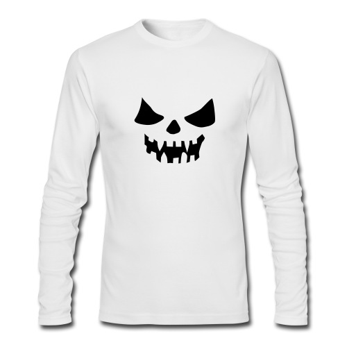 scary face - Men's Long Sleeve T-Shirt by Next Level