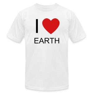 I (HEART) EARTH - Men's T-Shirt by American Apparel