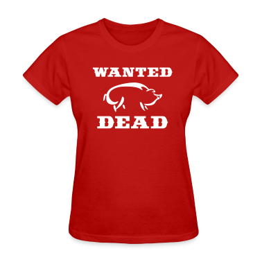 Red Boar Wanted Dead Women's T-shirts