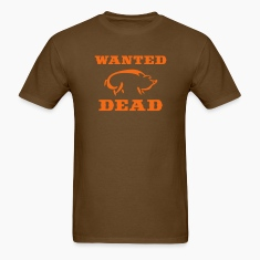 Brown Boar Wanted Dead T-Shirts