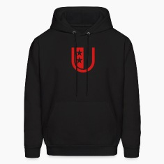 Black u_letter_star Hoodies