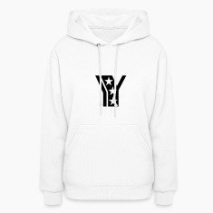 White y_letter_star Hooded Sweatshirts