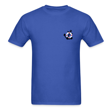 Royal blue Life Saver and Anchor T-Shirts