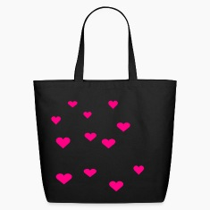 Black 12 Assorted Hearts Bags