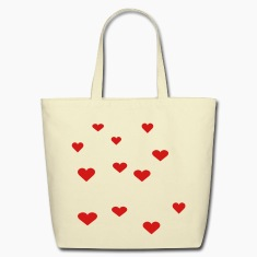 Creme 12 Assorted Hearts Bags