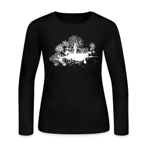 Cool Designer Trees Tee - Women's Long Sleeve Jersey T-Shirt