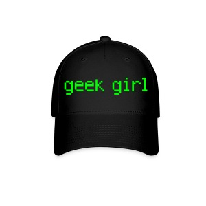 geek girl! - Baseball Cap