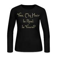 Long Sleeve Shirts ~ Women's Long Sleeve Jersey T-Shirt ~ Yes, My Hair