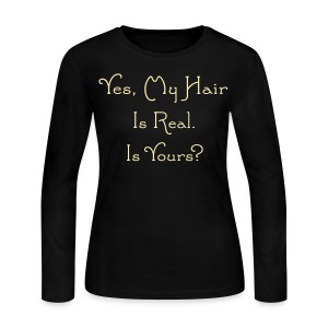 Yes, My Hair - Women's Long Sleeve Jersey T-Shirt