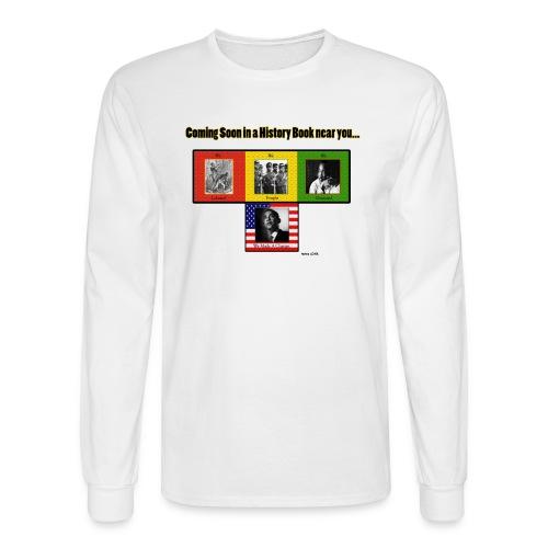 Black History (LS White) - Men's Long Sleeve T-Shirt