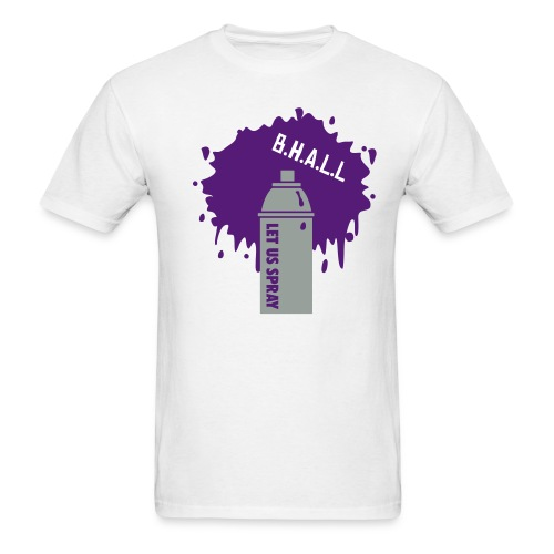 brad had a little lamb (spray)  *purple* - Men's T-Shirt