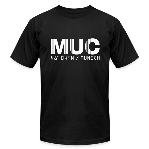 Munich Airport Code Germany MUC Fitted T-shirt - Men's T-Shirt by American Apparel