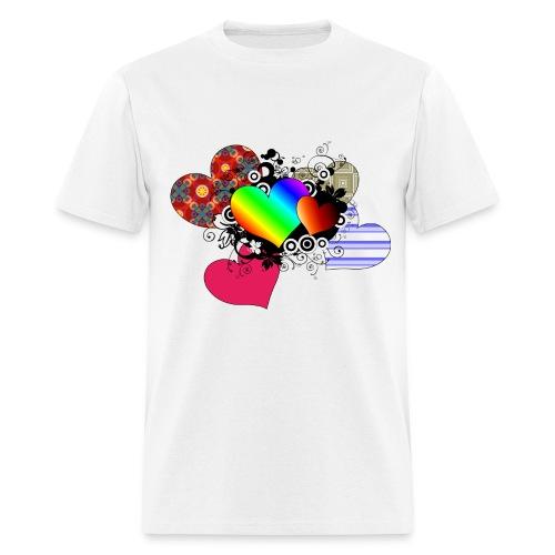 Love in multi-color - Men's T-Shirt