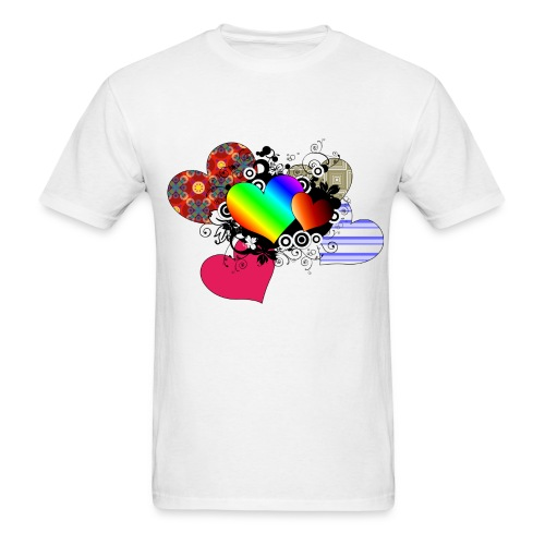 Love in multi-color - Men's T-Shirt