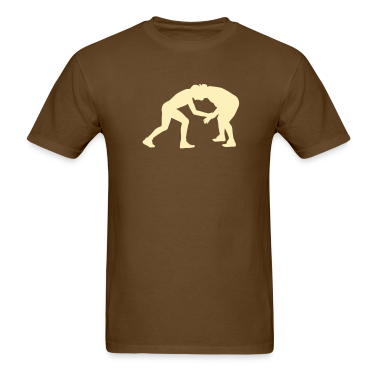 Brown wrestling T-Shirts