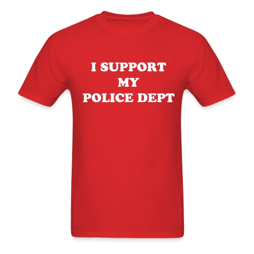 Support Police Light TShirt- (Customize to Your PD) - Men's T-Shirt