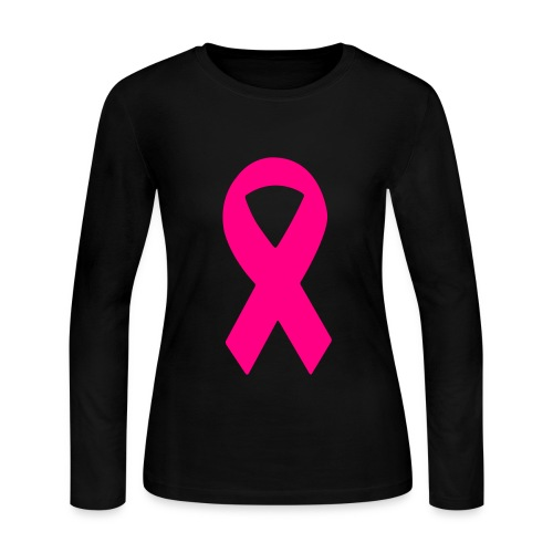 Breast Cancer Awareness - Black Shirts - Women's Long Sleeve Jersey T-Shirt