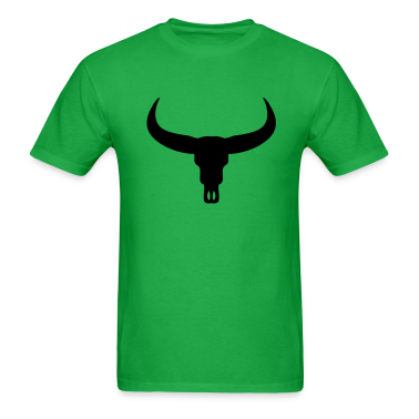 Bright green Bull Skull T-Shirts