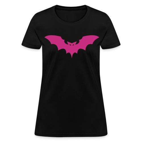 Hot Pink Bat (womens) - Women's T-Shirt