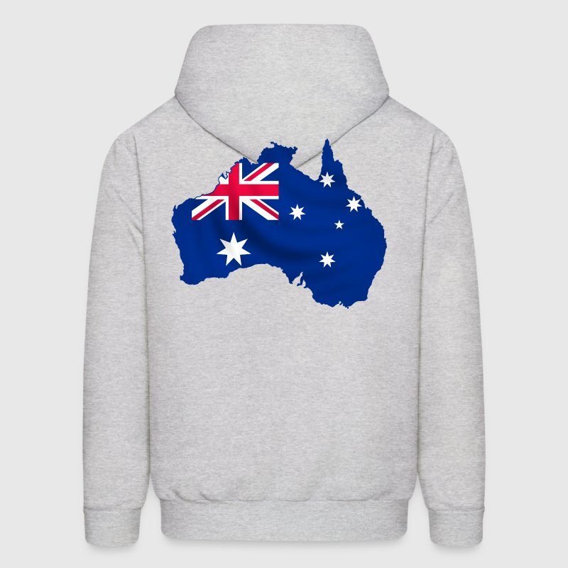 Australia map and flag - Men's Hoodie