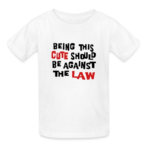 Kool Kids Tees 'Being This Cute, Against Law' Kids' Tee in White - Kids' T-Shirt