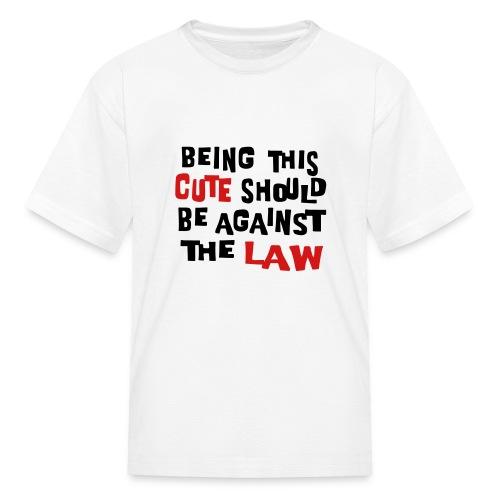 Kool Kids Tees 'Being This Cute, Against Law' Kids' Tee in White - Kids' T-Shirt