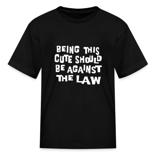 Kool Kids Tees 'Being This Cute, Against Law' Kids' Tee in Black - Kids' T-Shirt