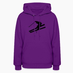 Light pink skier Hooded Sweatshirts