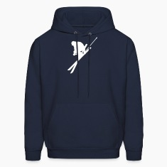 Navy skiing Hoodies