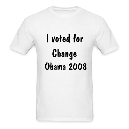 I voted for change - Men's T-Shirt