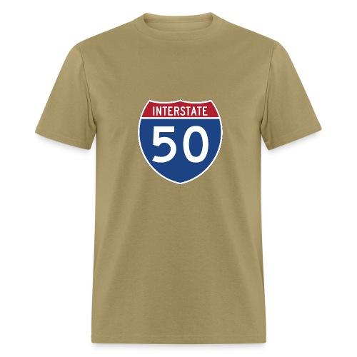 Interstate 50 sign - AUTONAUT.com - Men's T-Shirt