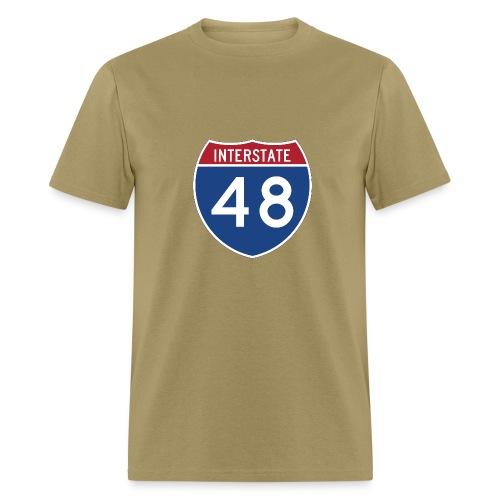 Interstate 48 sign - AUTONAUT.com - Men's T-Shirt