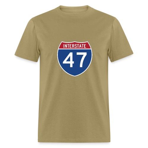 Interstate 47 sign - AUTONAUT.com - Men's T-Shirt