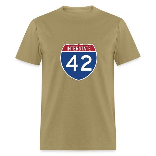 Interstate 42 sign - AUTONAUT.com - Men's T-Shirt