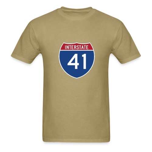 Interstate 41 sign - AUTONAUT.com - Men's T-Shirt