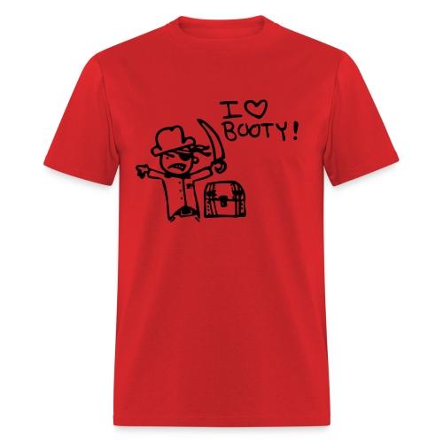 Men's I Love Booty T-Shirt - Men's T-Shirt