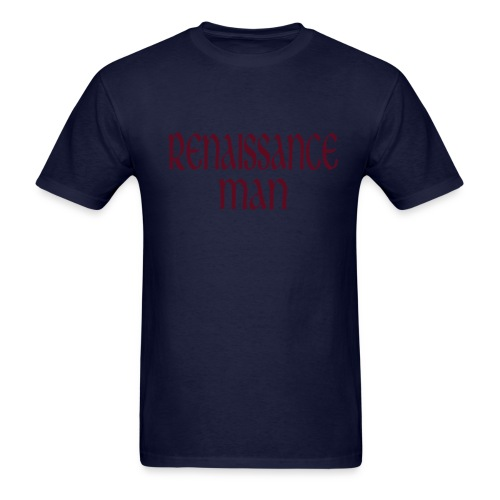 Kool Kids Tees 'Renaissance Man' Men's LW Tee in Navy - Men's T-Shirt