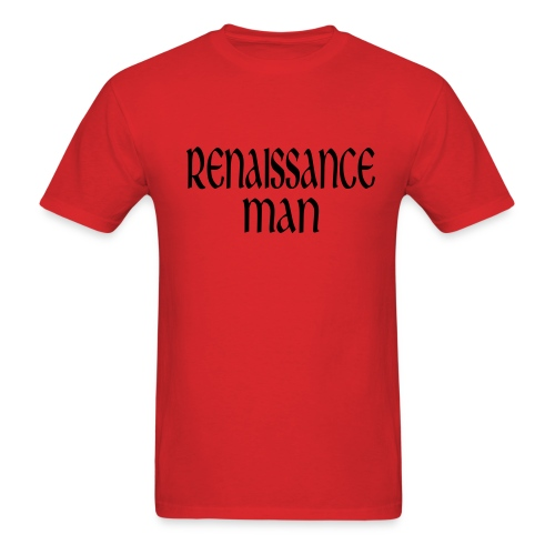 Kool Kids Tees 'Renaissance Man' Men's LW Tee in Red - Men's T-Shirt