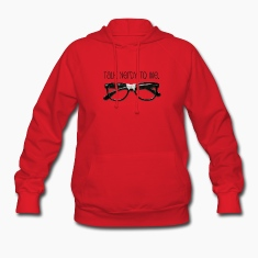 Red Talk Nerdy To me Hooded Sweatshirts