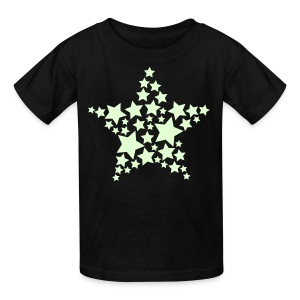 YellowIbis.com 'Astronomy Symbols' Kids T-Shirt: Star of stars (Black, Glow in the Dark) - Kids' T-Shirt